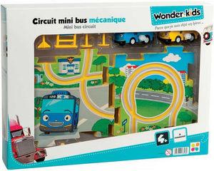 WONDER KIDS - circuit et véhicules mini bus mécanique à remontoi - Coche Miniatura