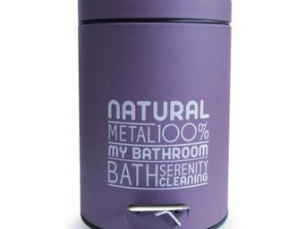 Cm - poubelle 3l natural violette - Papelera De Cuarto De Ba�o
