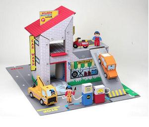 EXKLUSIVES FUR KIDS - garage frères willson en carton recyclé 73x56x43cm - Casa De Muñecas