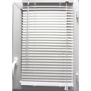 Luance - store vénitien pvc blanc 50x130 cm - Estor Enrollable