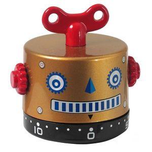 INVOTIS - minuteur robot marron - Minutero