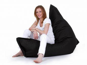 BELIANI - pouf, coussin en format 140 x 180 cm noir - Puf