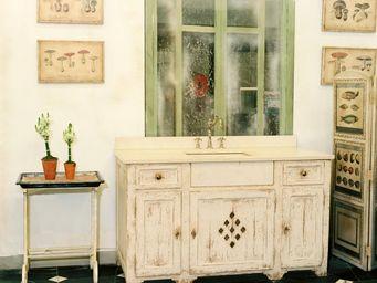 PROVENCE ET FILS - bloc cuisine mere michel 150cm /avec evier marbre - Cocina Equipada