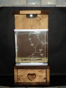 DECO CHALET MONTAGNE - aquarium + meuble nano aquarium style scandinave - Acuario