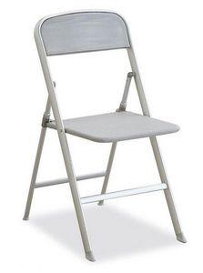 Calligaris - chaise pliante alu grise de calligaris - Silla Plegable