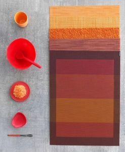 CHILEWICH - paprika_orangecolorstory - Mantel Individual