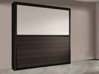 WHITE LABEL - armoire lit superpos�e transversale 2 couchages 90 - Armario Cama