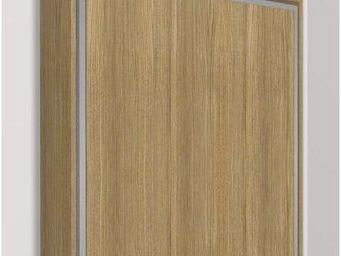 WHITE LABEL - armoire lit escamotable eos, chêne. matelas treca - Armario Cama