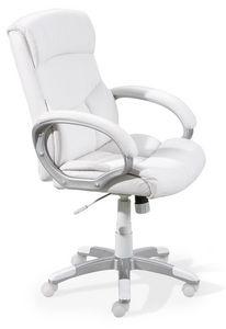 WHITE LABEL - fauteuil de bureau ergonomique coloris blanc desig - Silla De Despacho