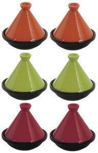 Aubry-Gaspard - 6 mini tajines en céramique 10cm - Fuente De Tajine