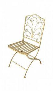 Demeure et Jardin - chaise en fer forgé collection régence - Silla De Jardín Plegable