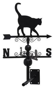 Aubry-Gaspard - girouette chat avec arabesques en fer forgé 97x47x - Veleta