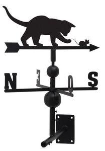 AUBRY GASPARD - girouette chat et souris en fer forgé 97x47x47cm - Veleta