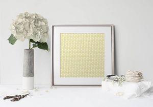 la Magie dans l'Image - print art trèfle jaune blanc - Póster