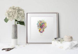 la Magie dans l'Image - print art un bouquet - Póster