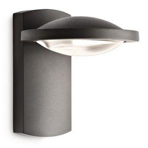 Philips - applique led noire freedom h19 cm ip44 - Aplique De Exterior