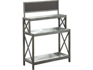 AUBRY GASPARD - table à rempoter en bois et zinc - Mesa De Jardinería