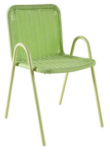 Aubry-Gaspard - chaise enfant en polyrésine verte - Silla Para Niño