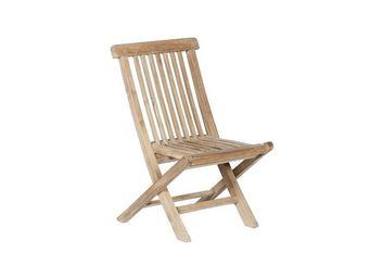 BOIS DESSUS BOIS DESSOUS - chaise de jardin enfant en bois de teck midland - Silla De Jardín Plegable