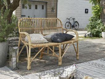 BOIS DESSUS BOIS DESSOUS - canapé de jardin en rotin vintage - Sofá Para Jardín