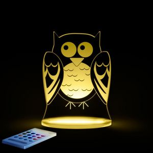 ALOKA SLEEPY LIGHTS - chouette - Lámpara Para Dormir Para Niño