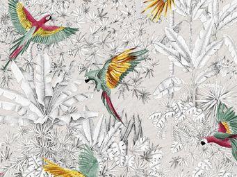 THEVENON - perroquets mania --- - Tejido Estampado