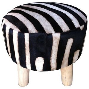 Mathi Design - tabouret nature zebre - Taburete