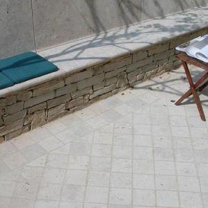 TENDANCE PIERRE - muret en moellons de pierres naturelles - Muro Murete