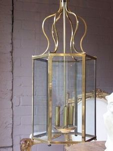 Jane Walton Antique Dealer - mid-20c metal hanging lantern - Linterna