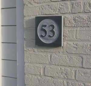 La Pierre - style 2 - Número De Puerta