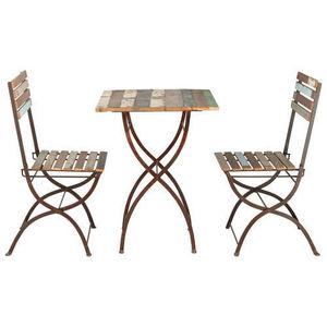 Maisons du monde - set table + 2 chaises collioure - Silla