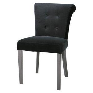 Maisons du monde - chaise velours noire boudoir - Silla