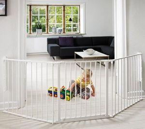 BABYDAN - barrire de scurit modulable flex l - blanc - Barrera De Seguridad Para Niño