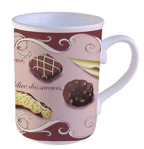 PORCELAINE CLAUDIE FRANEL - mug forme anglaise droite - Taza