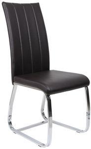 COMFORIUM - chaise de table simili cuir marron - Silla