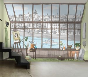 IN CREATION - paris atelier bd - Papel Pintado