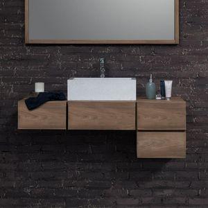 BOIS DESSUS BOIS DESSOUS - meuble de salle de bain en bois de teck 145 - Mueble De Cuarto De Baño