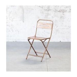 Mathi Design - chaise pliante steel - Silla