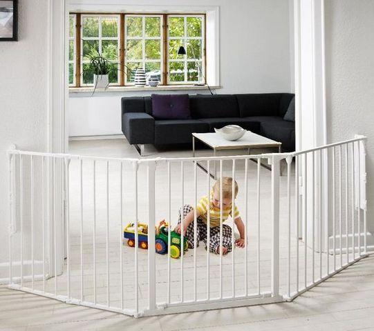 BABYDAN - Barrera de seguridad para niño-BABYDAN-Barrire de scurit modulable Flex L - blanc