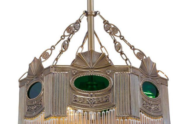 PATINAS - Candelero con cristales colgantes-PATINAS-Triest pendant I.