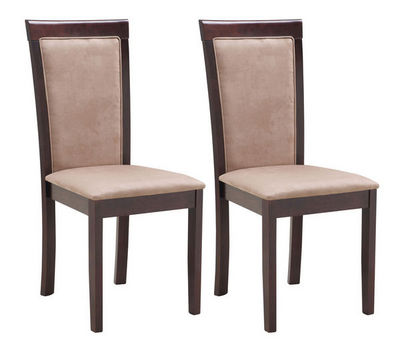 Miliboo - Silla-Miliboo-JUDY lot deux chaises chêne