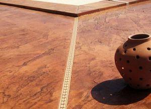 Moderne Methode Pavimento decorato in calcestruzzo