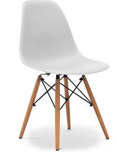 Charles & Ray Eames - chaise blanche design eiffel sw charles eames lot  - Sedia Da Banchetto