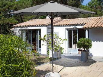 PROLOISIRS - parasol automatique spring 3m toile et mât gris - Ombrellone