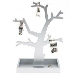 Present Time - arbre àbijoux noir ou argenté - couleur - argenté - Portagioie