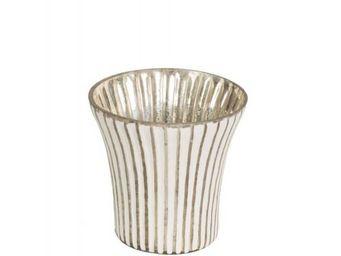 BLANC D'IVOIRE - strie - Bicchiere Portacandela