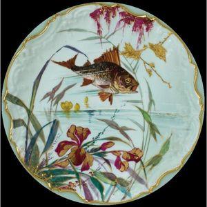 Au Bain Marie - assiette en tôle poisson gardon - Piatto Decorativo