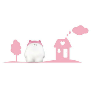 Philips - buddy - applique et sticker maison rose h26,6cm |  - Applique Bambino