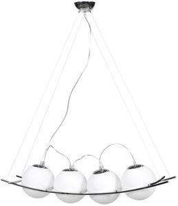KOKOON DESIGN - suspension design uranus verre blanc - Lampada A Sospensione