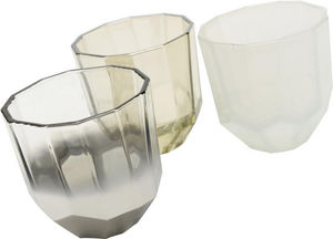 Amadeus - photophores en verre 3 coloris (lot de 3) - Bicchiere Portacandela
